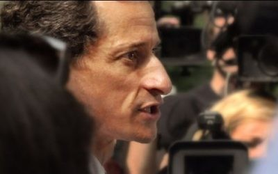 Anthony Weiner dans le documentaire 'Weiner'.(Crédit : autorisation du Sundance Institute)