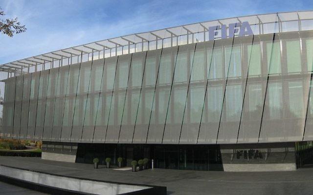 Le siège de la FIFA, la Fédération internationale de football, à Zurich, en Suisse. (Crédit : MCaviglia - Travail personnel/CC BY-SA 3.0/WikiCommons)