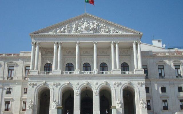 Le Parlement portugais (Crédit : CC BY-SA Andrés Monroy-Hernández, Wikimedia Commons)