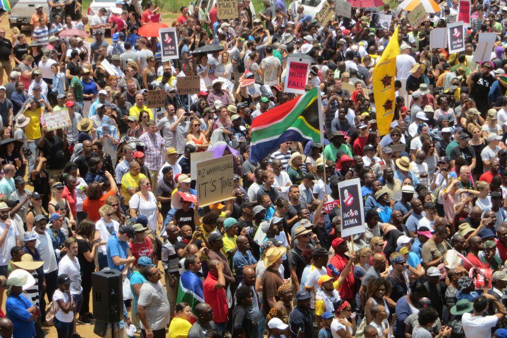 Une manifestation anti-corruption à Johannesburg, le 16 décembre 2015 (Crédit : Autorisation)
