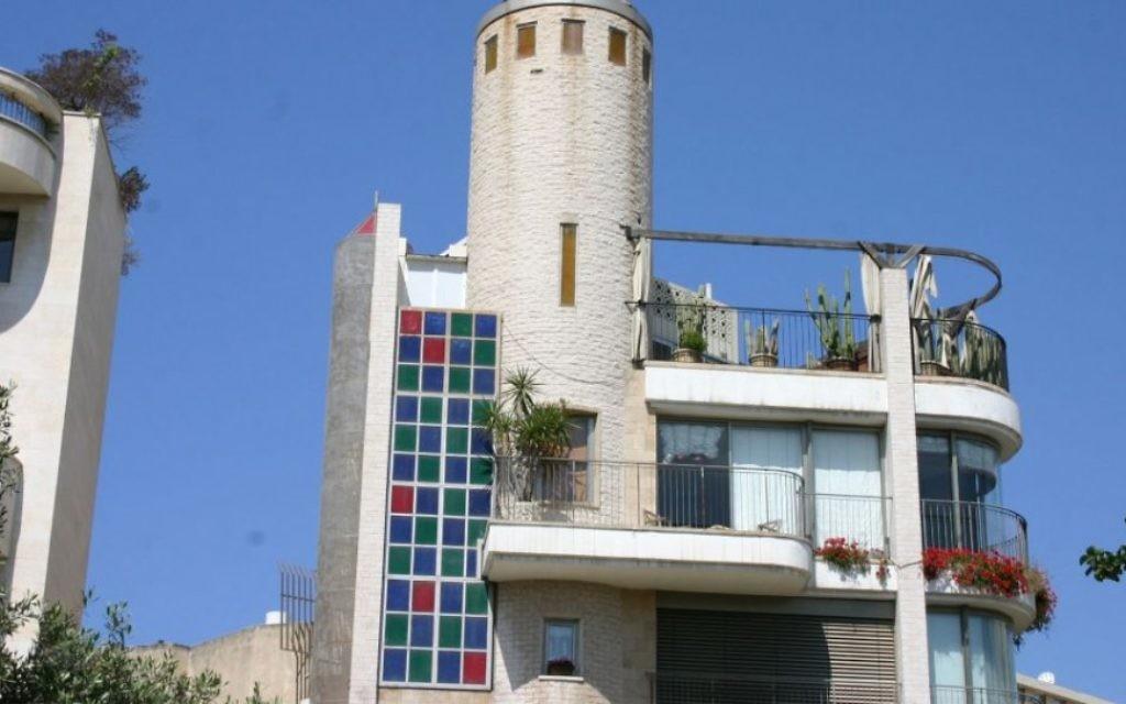 L'architecture éclectique de la rue Yehushua Ben Nun dans le Vieux-Nord de Tel-Aviv. (Photo: Shmuel Bar-Am)