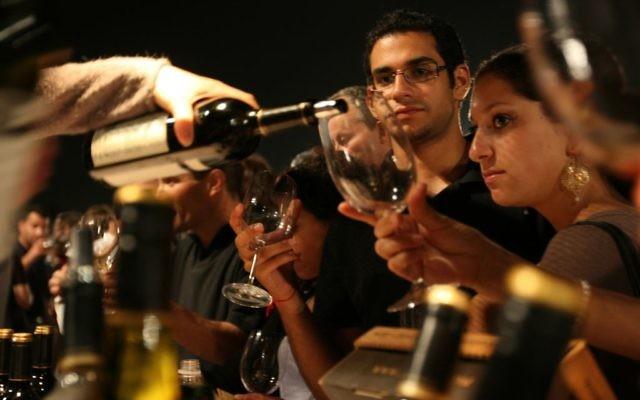 Festival du vin de Jérusalem (Crédit : Anna Kaplan /Flash90 )