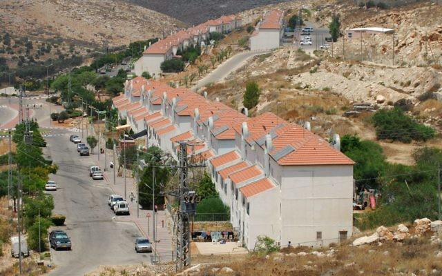 L'implantation d'Avnei Hefetz, à l'est de Tulkarem, le 31 juillet 2009. Illustration. (Crédit : Gili Yaari/Flash90)