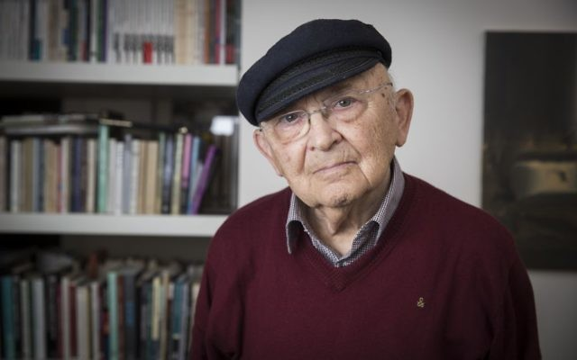 Aharon Appelfeld, rescapé de la Shoah et écrivain israélien (Crédit : Hadas Parush/Flash90)