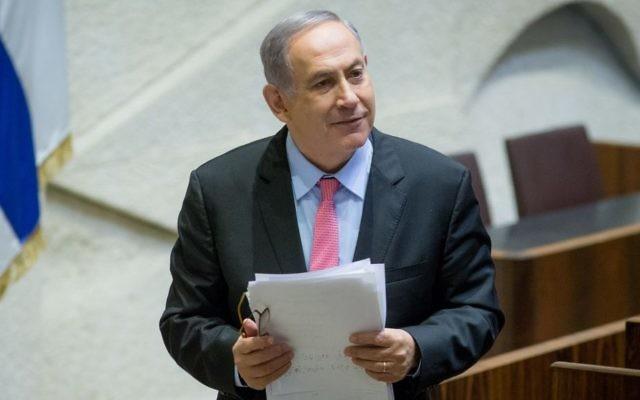 Le Premier ministre Benjamin Netanyahu à la Knesset, à Jérusalem, le 3 août 2016. (Crédit : Yonatan Sindel/Flash90)