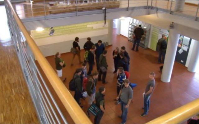 L'université HAWK des sciences appliquées, à Hildesheim (Crédit : capture d'écran YouTube)