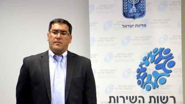 Sar-Shalom Gerbi, directeur général du service national d'Israël, en août 2016. (Crédit : Dov Lieber/Times of Israel)