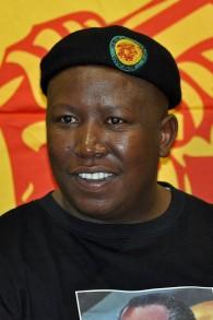 Julius Malema des Combattants de la liberté économique (Crédit : Wikimedia commons)