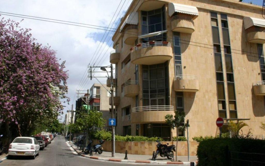 La rue Zangwill, au sud de la rue Nordau, dans le Vieux-Nord de Tel-Aviv. (Photo: Shmuel Bar-Am)