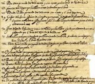 Registre des blasphémateurs, des hérétiques et des juifs du Saint Office de Tolède, en Espagne, 1632. (Crédit : musée d'histoire du Nouveau-Mexique)