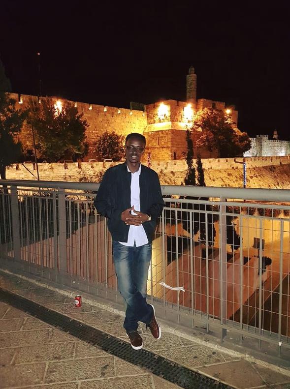 Honore Gatera, directeur du Mémorial du génocide à Kigali, en visite à Jérusalem, juillet 2016 (Crédit : Facebook)