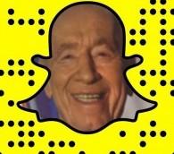 Le profil Snapchat de Shimon Peres. (Crédit : Facebook)