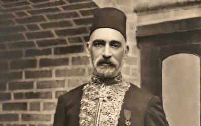 Sir Sassoon Eskell, juif de Bagdad qui a été le premier ministre des Finances de l'Irak et un acteur crucial de la fondation du royaume. (Crédit : Wikipedia)