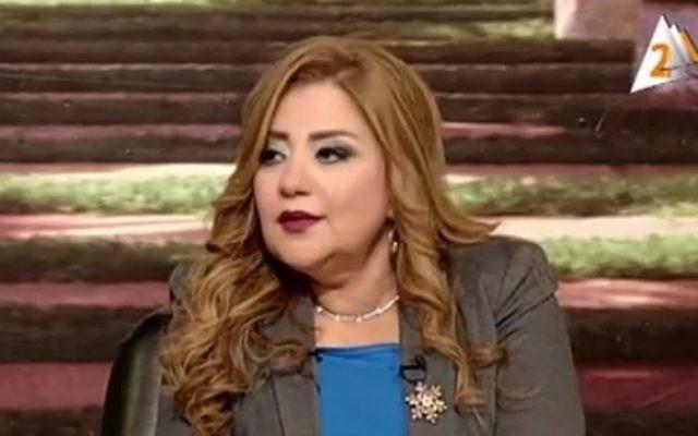 L'animatrice égyptienne Khadija Khatab. (Crédit : capture d'écran YouTube)