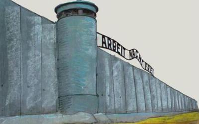 Le caricaturiste belge Luc Descheemaeker a publié cette image sur Facebook après avoir remporté un prix au concours largement condamné de caricatures sur l'Holocauste organisé en Iran, en mai 2016. (Crédit : Facebook)