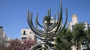 La sculpture au parc Brender a été créée par l'artiste contemporain Yaakov Agam. (Photo: Shmuel Bar-Am)