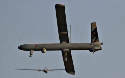 Un drone, en juin 2010. Illustration. (Crédit : Ofer Zidon/Flash90)