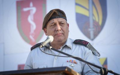 Le chef d'état-major de l'armée israélienne Gadi Eizenkot, le 13 juillet 2016. (Crédit :  porte-parole de l'armée israélienne)