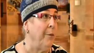 Rivka Shimon, porte-parole des Femmes pour le Temple (Capture d'écran Deuxième chaîne)