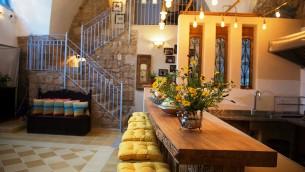 La cuisine confortable et l'espace de vie communautaire à Arabesque de Fallenberg, dans la Vieille Ville d'Akko (Autorisation Arabesque)