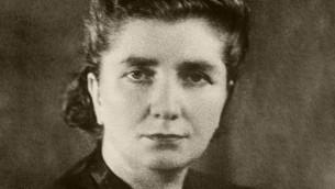 L'historienne Rachel Auerbach des archives 'Oneg Shabbat', qui a survécu à la Shoah et créé plus tard le département des témoignages de Yad Vashem (domaine public)