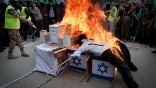 Manifestation du Hamas dans la bande de Gaza le 12 décembre 2014. (Crédit photo: Abed Rahim Khatib / Flash90)