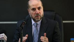Le Dr Mahmoud Habbash, juge suprême de la Charia de l'Autorité palestinienne et conseiller de Mahmoud Abbas sur les affaires religieuses et islamiques. (Crédit : autorisation)