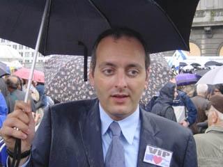 Joël Rubinfeld, directeur de la ligue belge contre l'antisémitisme. (Crédit : Maryll Israel/JTA)
