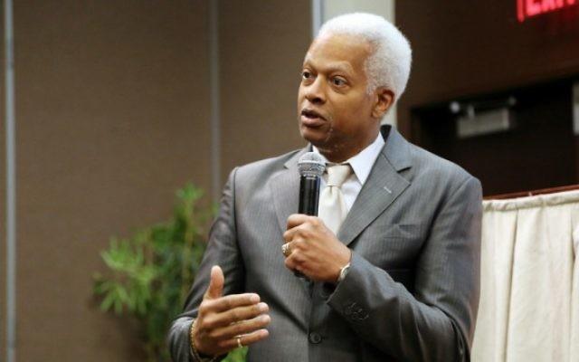 Le représentant démocrate Hank Johnson au Georgia Piedmont Technical College de Clarkston, en Géorgie, en février 2016. (Crédit : autorisation)