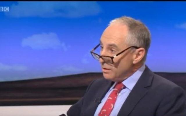 Michael Foster, pendant l'émission politique quotidienne  de la BBC, le 2 octobre 2015. (Crédit : capture d'écran YouTube)