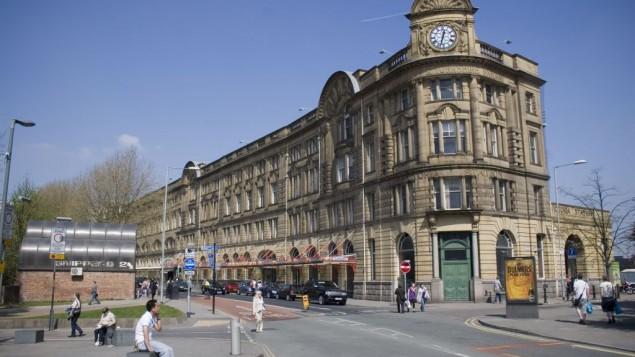 La gare victorienne de Manchester. (Crédit : WikiCommons via JTA)