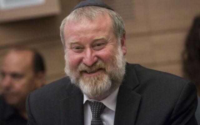 Le procureur général Avichai Mandelblit pendant une réunion de la commission de la Constitution, du Droit et de la Justice à la Knesset, le 18 juillet 2016. (Crédit : Miriam Alster/Flash90)