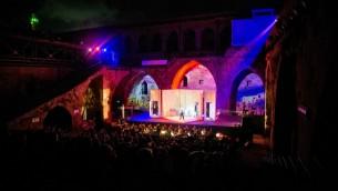 Répétitions pour le Festival d'Opera d'Akko 2016, au milieu des arches  de l'époque des Croisés de la Vieille Ville (Autorisation Yoav Pili)
