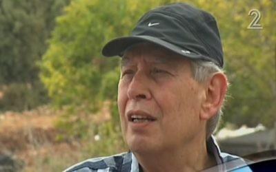 Tamir Pardo, ancien directeur du Mossad, à Daliyat al-Karmel, le 30 août 2016. (Crédit : capture d'écran Deuxième chaîne)