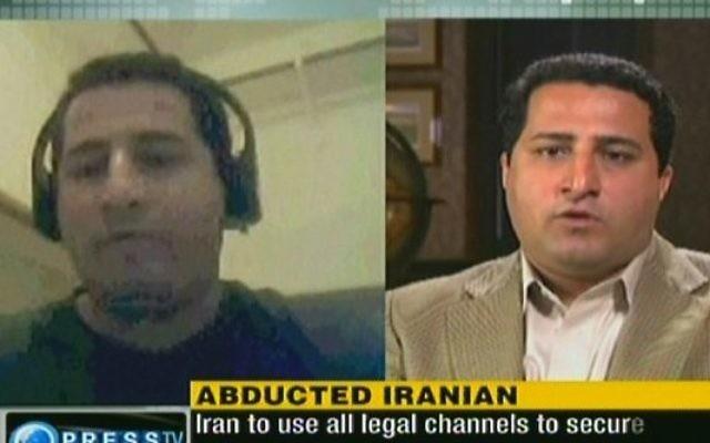 Un scientifique nucléaire iranien, Shahram Amiri, qui a été pendu (Crédit : capture d'écran)