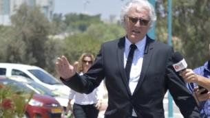 Tzion Amir, l'avocat de l'ancien président israélien Moshe Katsav, le 4 août 2016. (Crédit photo: Roy Alima / Flash90)