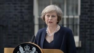 Theresa May en juillet 2016 (Crédit : Oli Scarff/AFP)