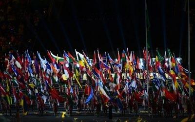 Cérémonie d'ouverture des Jeux paralympiques au stade Macarena de Rio de Janeiro, au Brésil, le 7 septembre 2016. (Crédit : AFP/Tasso Marcelo)