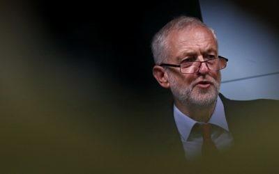 Jeremy Corbyn, dans le centre de Londres, le 15 septembre 2016. (Crédit : Adrian Dennis/AFP)