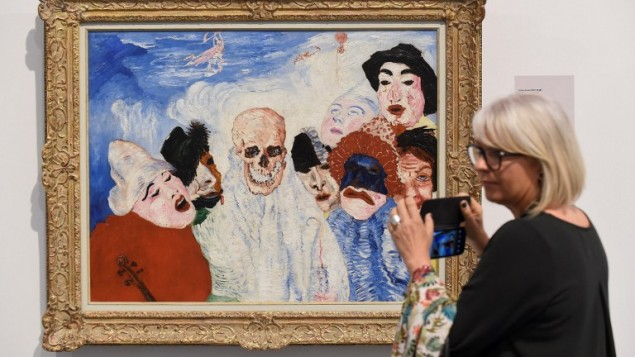 """Vernissage de l'exposition """"21 rue de la Boétie"""" sur le légendaire vendeur d'œuvres d'art français Paul Rosenberg (1881-1959), au musée de la Boverie à Liège, en Belgique, le 21 septembre 2016. (Crédit : AFP/John Thys)"""