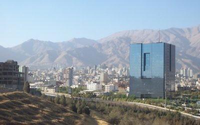 La grande banque centrale d'Iran à Téhéran. (Crédit : CC BY-SA Ensie & Matthias, Flickr)