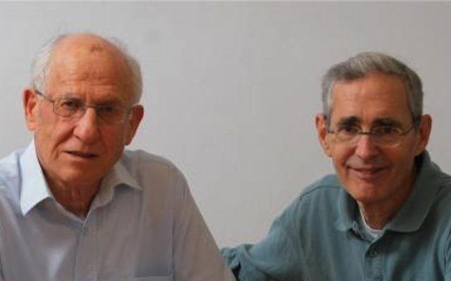 Howard Cedar et Aharon Razin (g) (Crédit : autorisation université Hébraïque de Jérusalem)