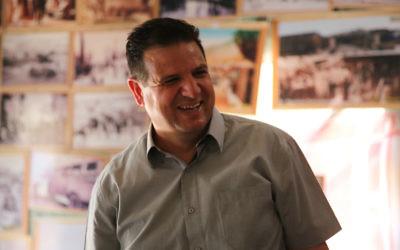 Ayman Odeh, dirigeant de la Liste arabe unie. (Crédit : bureau d'Odeh via JTA)