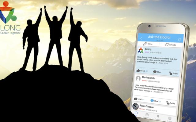 L'application mobile Belong vise à aider les patients atteints du cancer à s'orienter pendant ce voyage difficile (Crédit : Autorisation)