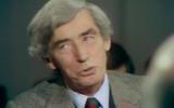 Hergé à l'émission Apostrophes, le 5 janvier 1979 (Crédit : capture d'écran INA)