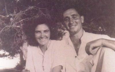 Sonia et Shimon Peres (Crédit : GPO)