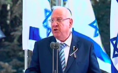 Le président Reuven Rivlin, le 30 septembre 2016. (Crédit : capture d'écran Deuxième chaîne)