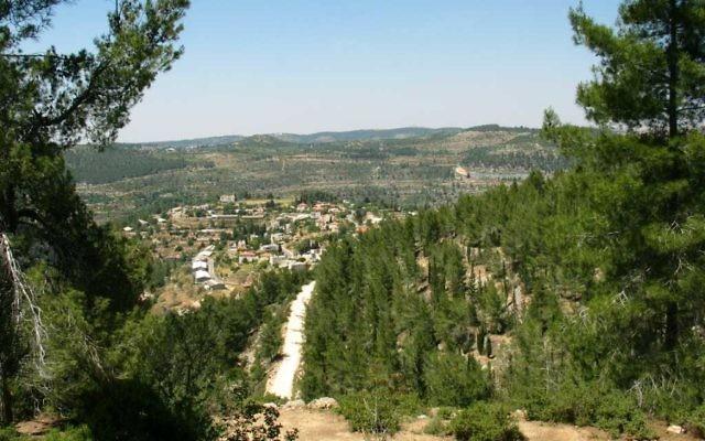Le moshav d'Even Sapir, près de Jérusalem. Illustration. (Crédit : Ester Inbar, via WikiCommons