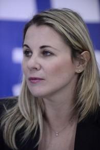 Ksenia Svetlova, députée russophone de l'Union sioniste, le 22 février 2015. (Crédit : Tomer Neuberg/Flash90)