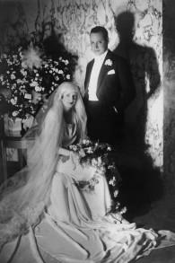 Le mariage d'Odette et Robert Fabius, en 1929. (Crédit : autorisation)